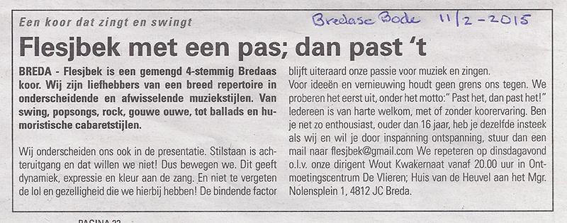 11-02-2015 Bredase Bode- Flesjbek met een pas dan past 't